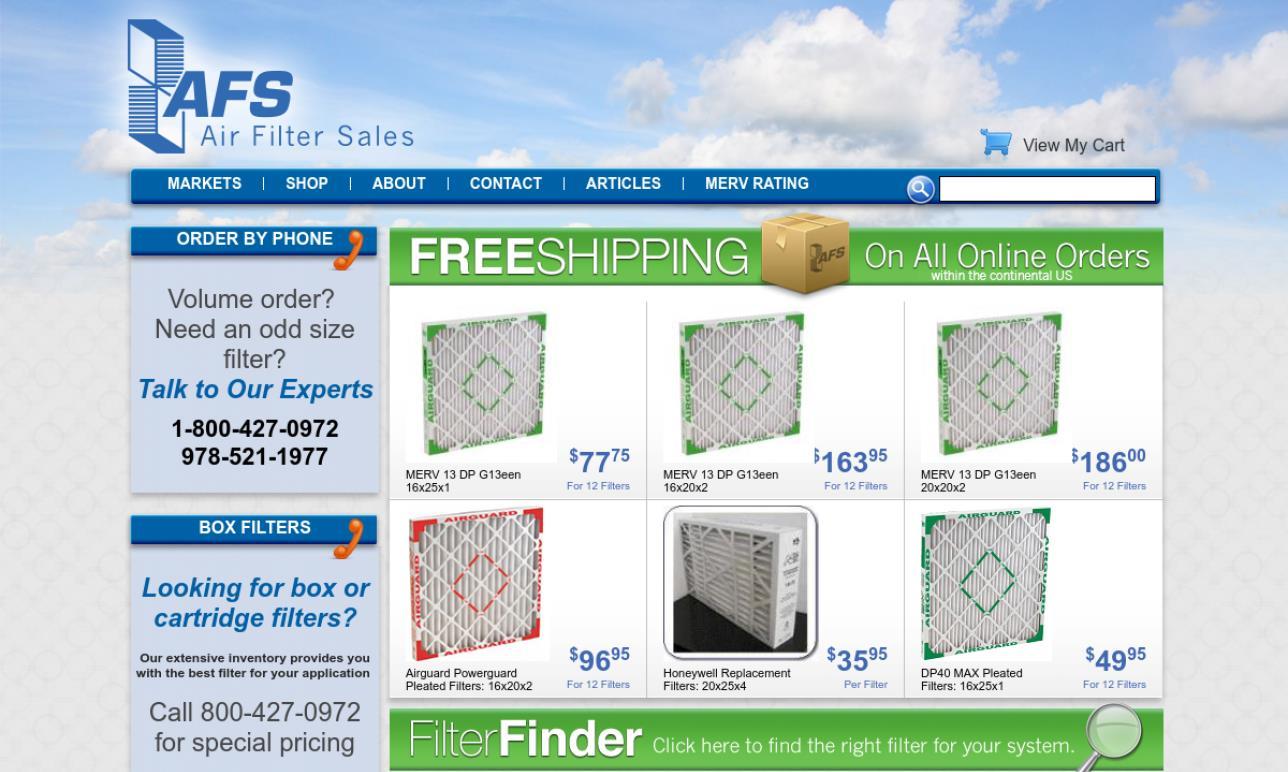 Air Filter Sales