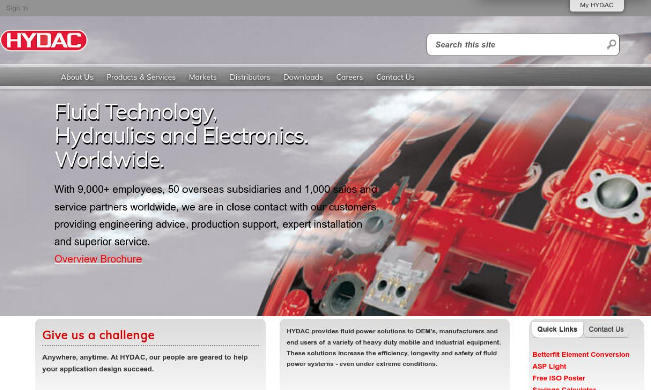 HYDAC Technology Corp., Hydraulic Div.