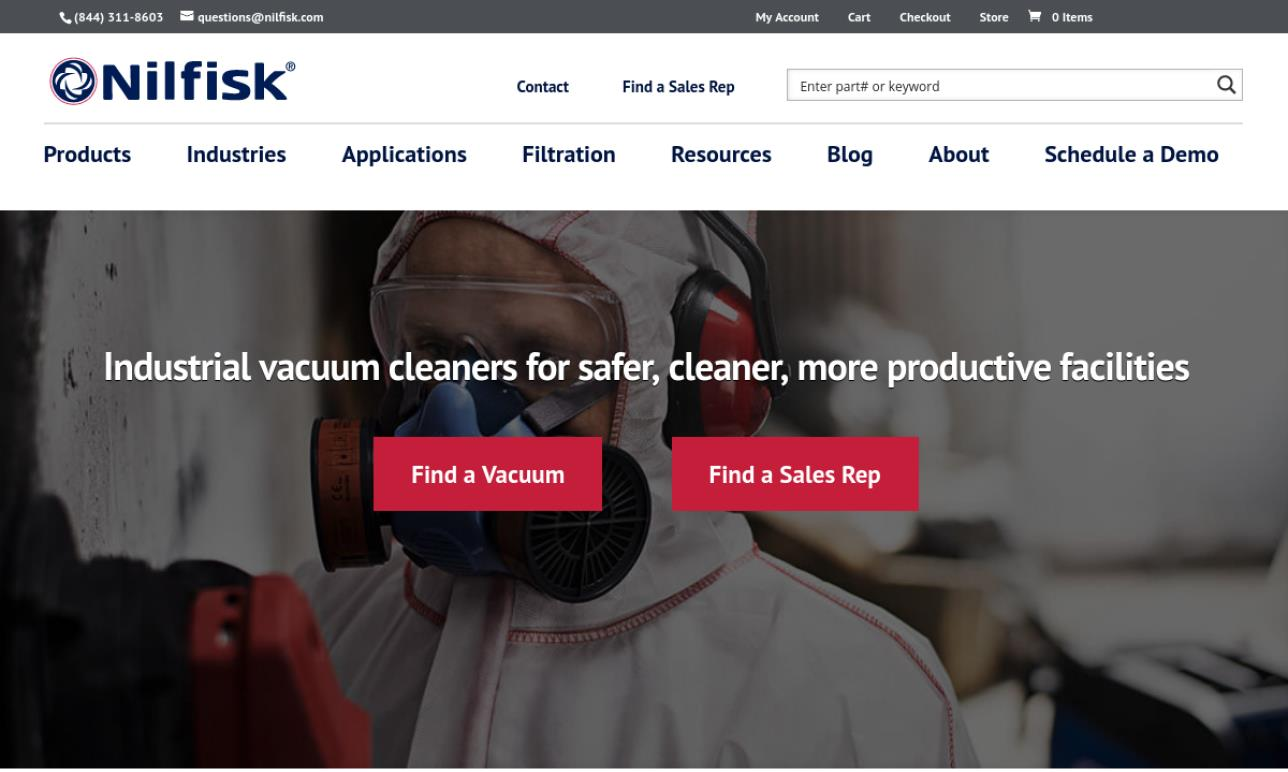 Nilfisk Industrial Vacuums