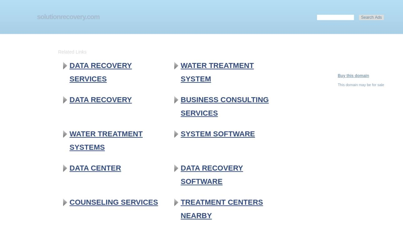 Solution Recovery Services